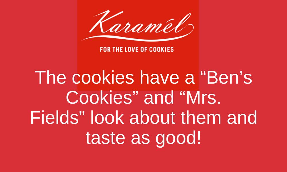 karamel cafe, chocolate chip cookies