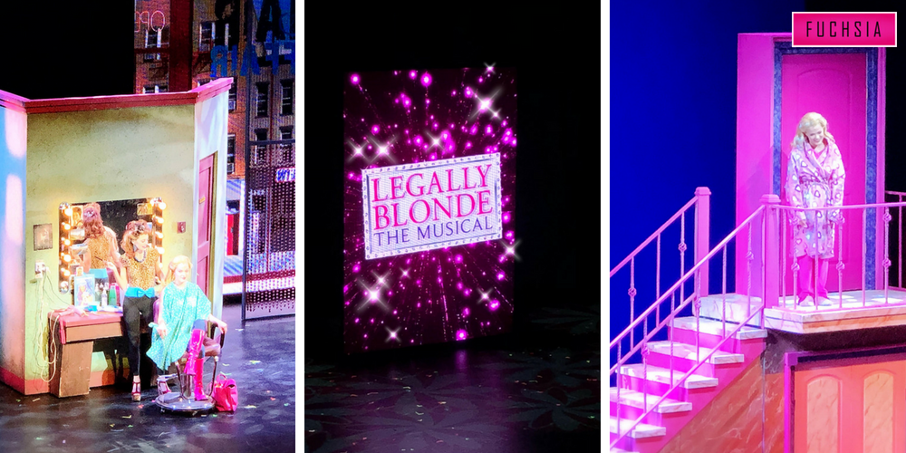 Sets at Legally blonde