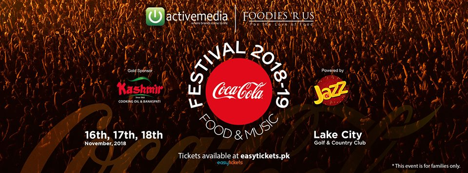 Event planner, Coke Food and Music Festival 2018