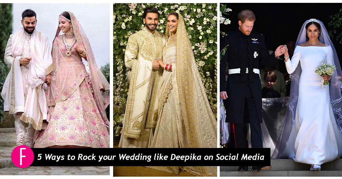 36fd8c5850 While the world has all eyes set on celeb weddings this past year, we try  hard to keep up with the trending hashtags! #meghanandharry #Virushka  #DeepVeer ...