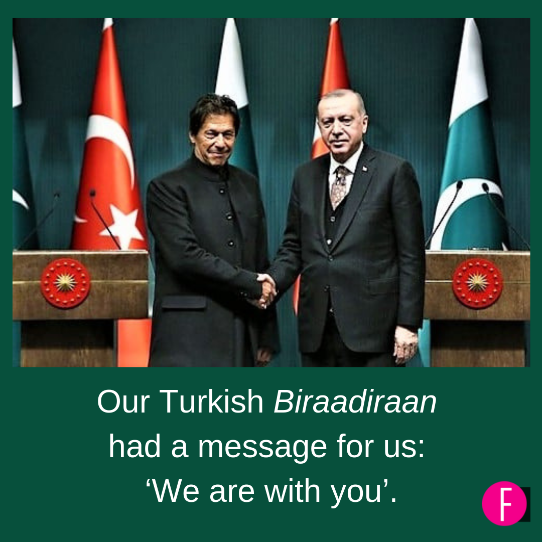 Pakistan, Turkey, India