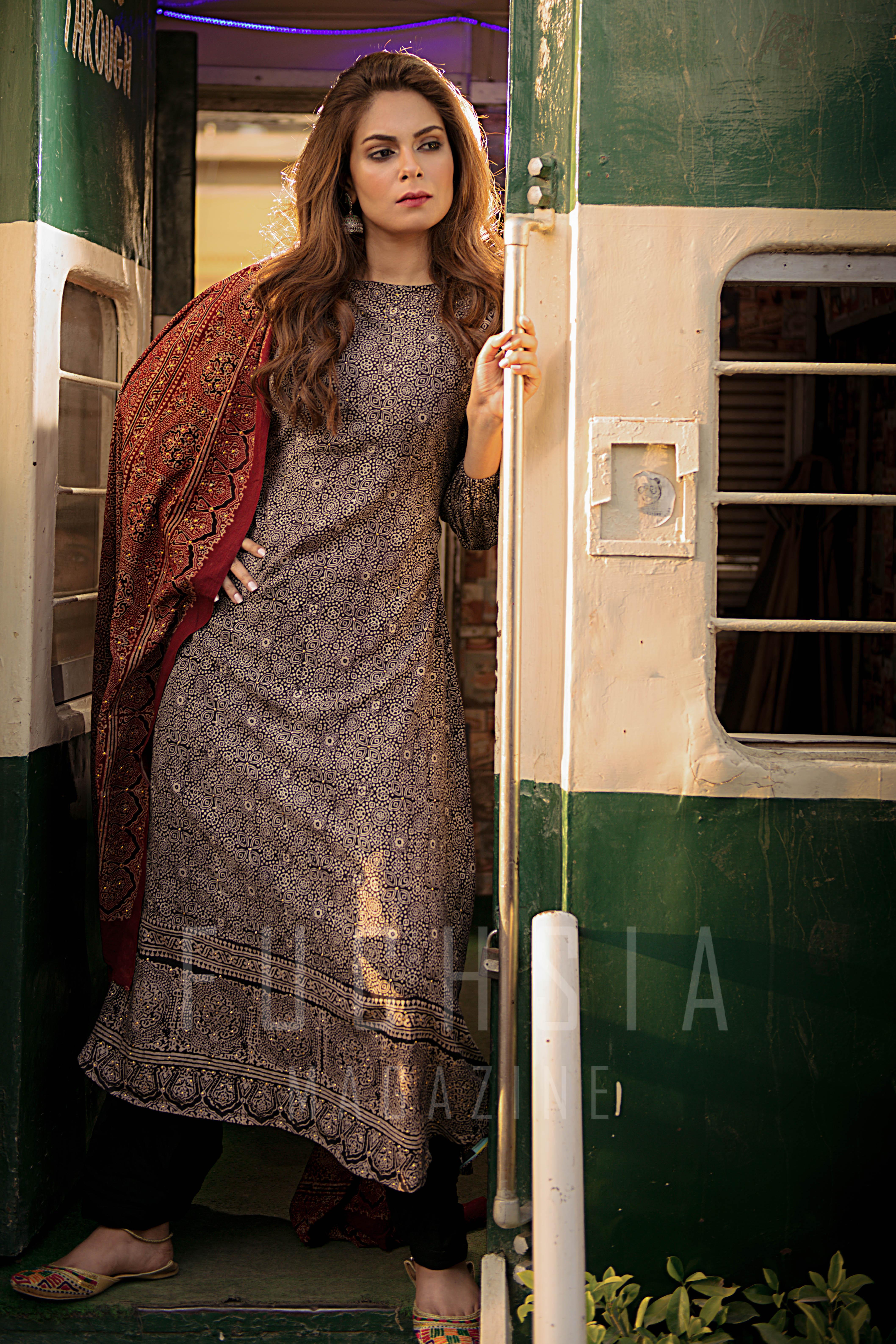 Ajrak, Pakistani Fashion, Ajrak shirt, Ajrak kurta