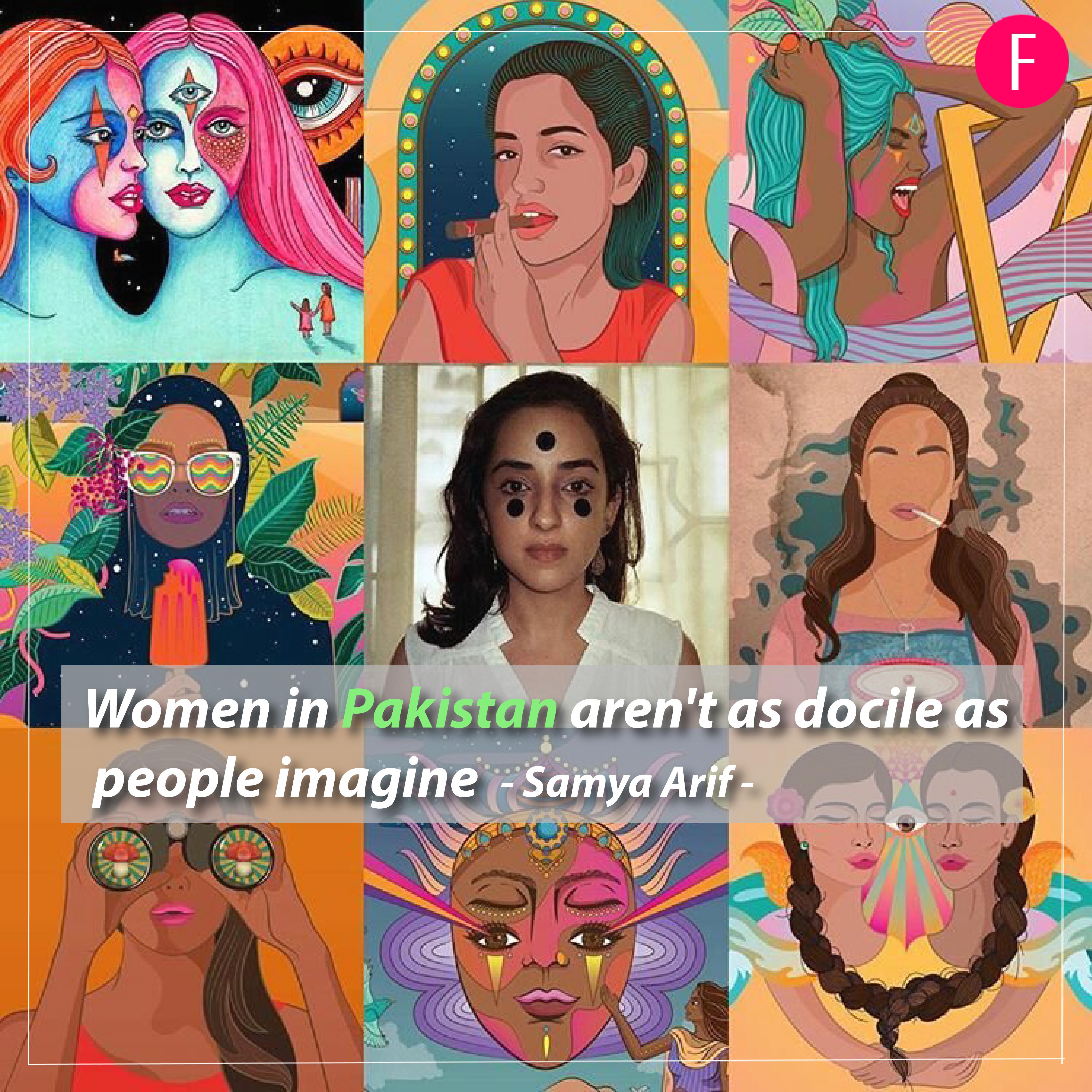 Samya Arif, Graphic designer, Pakistani illustrator