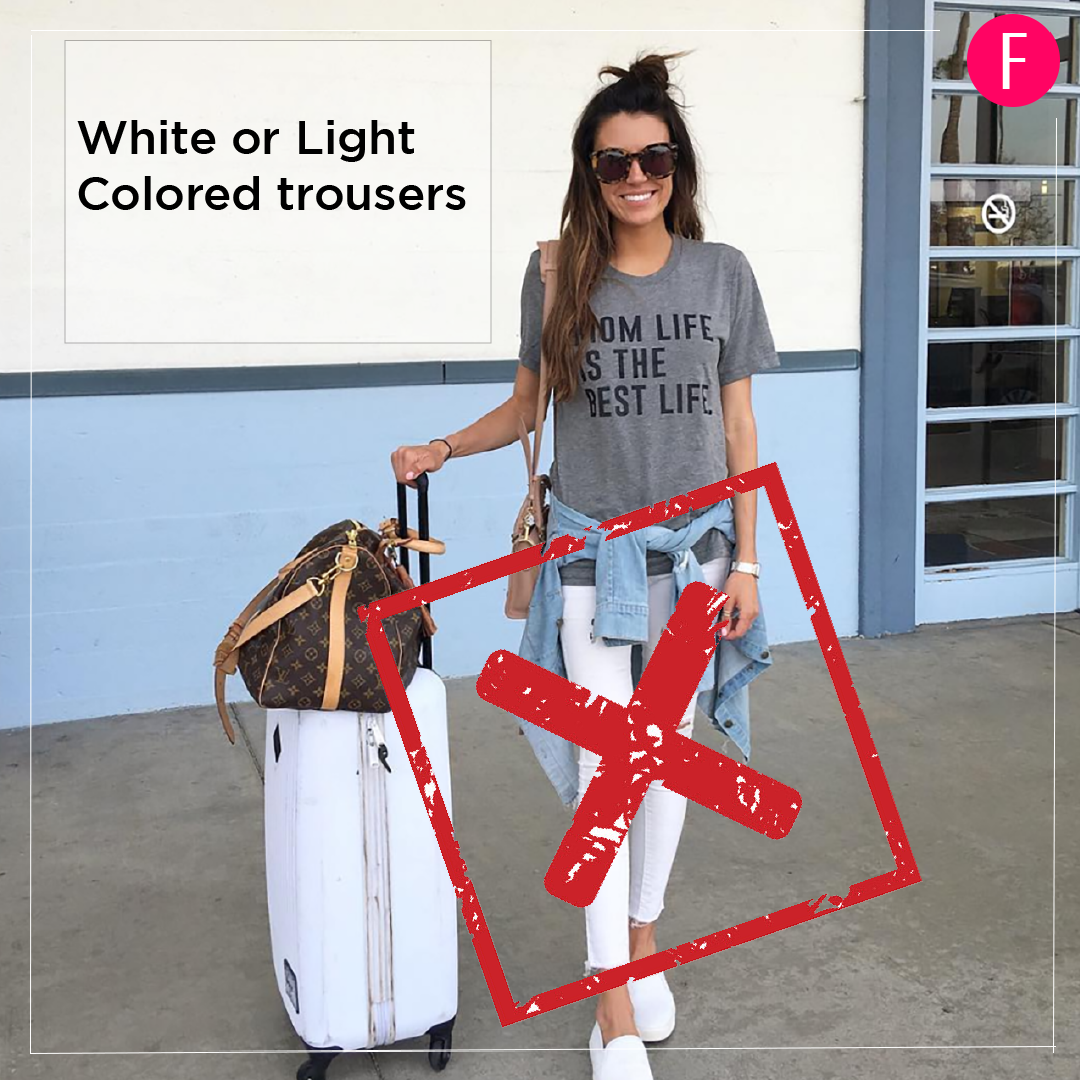 white jeans, travel, travel clothes