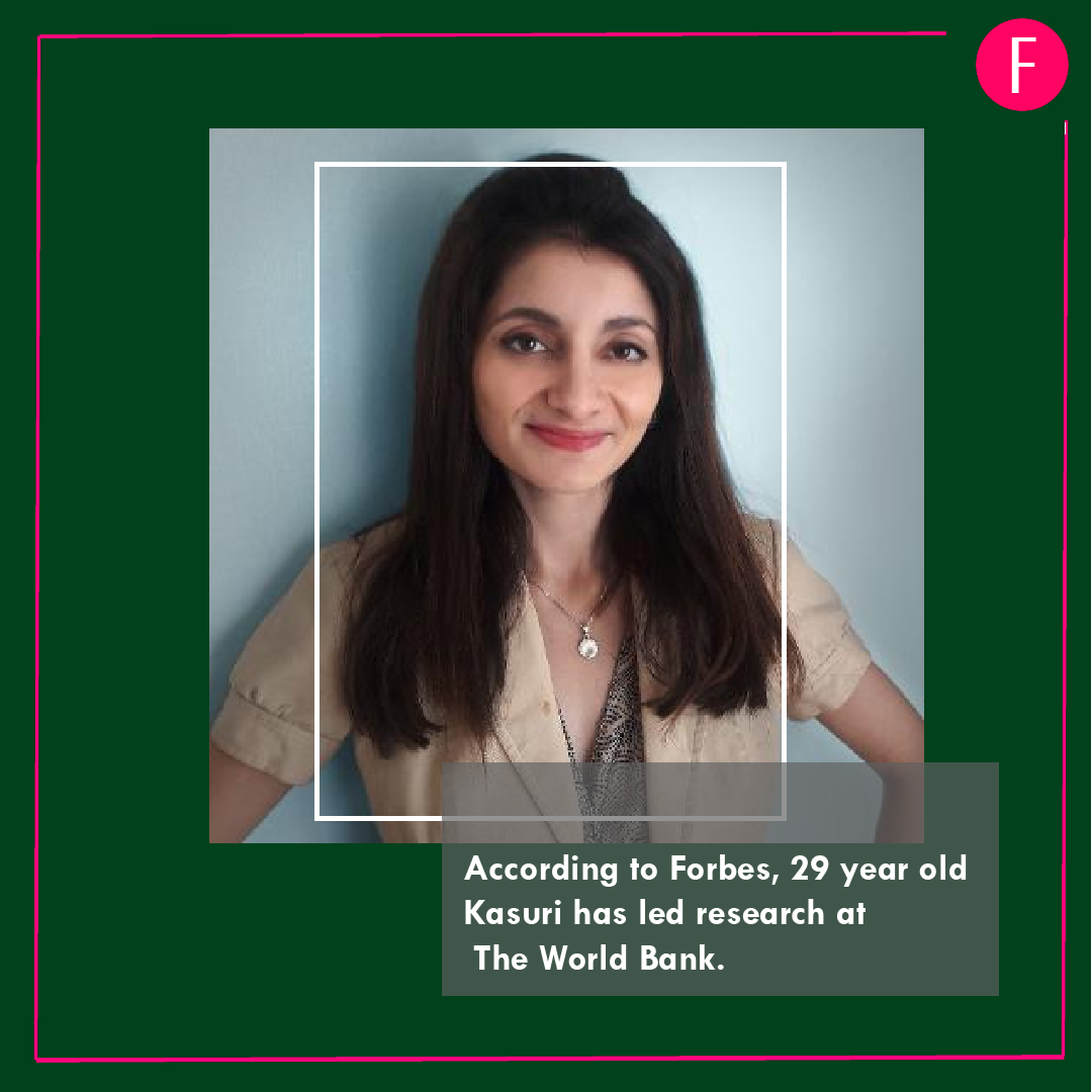 Laila Kasuri, Forbes 30 under 30 , Pakistanis in Forbes List