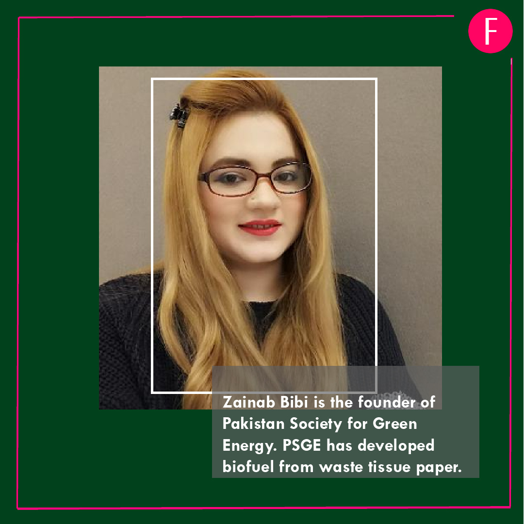 Zain Bibi, Forbes 30 under 30, pakistanis in forbes list
